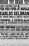 Intramuros poster for Carlos Celdran's tours about Manila.  www.carlosceldran.com