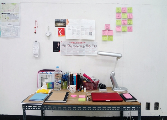 My desk, January 2013
