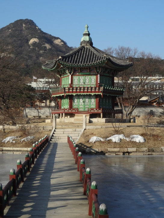 Hyangwonjeong pavilion. Isn't she lovely?