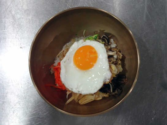 The first bowl of bibimbap I have ever made in my life.