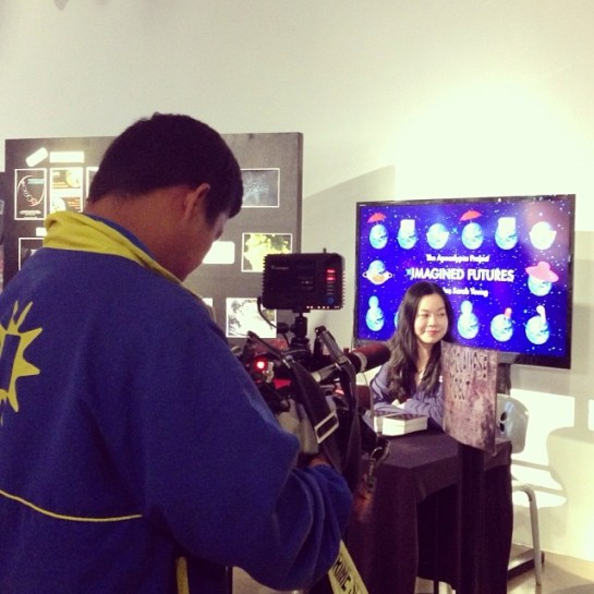 Solar News filming The Apocalypse Project booth during Media Day last month