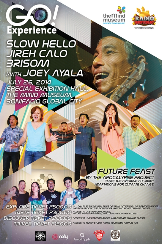 Future Feast poster by Radio Republic, highlighting featured artists, special guest artist, and the chefs