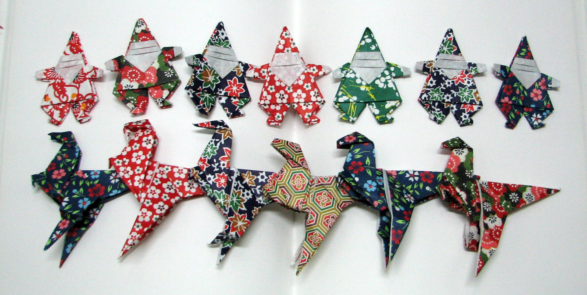 Holiday Origami 2014 The Santaraptor Catherine Sarah Young