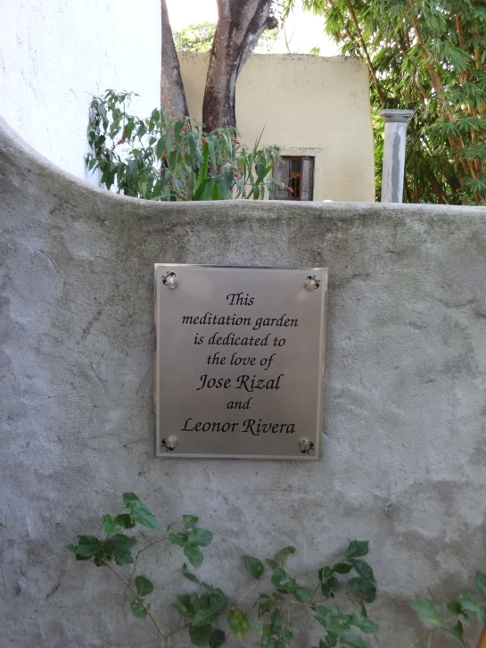 Squeal! A meditation garden dedicated to the love between Jose Rizal and Leonor Rivera