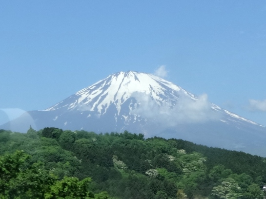 My first glimpse of Mt. Fuji