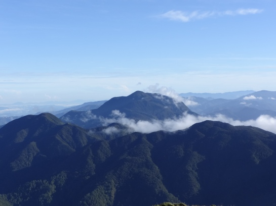 The clouds over and around the Cordilleras