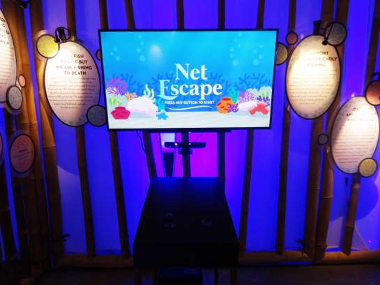 Net Escape is a game where you prevent unsustainable seafood from swimming into a large net.