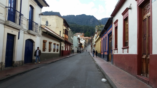 Walking the streets of La Candelaria in Bogota