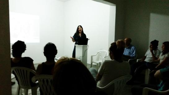 Artist talk at Casa Tres Patios