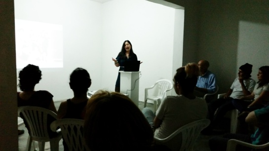 Artist talk at Casa Tres Patios
